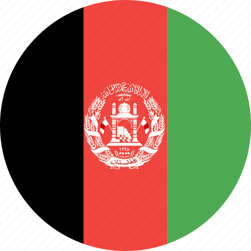 afghanistan, circle, country, flag, nation icon