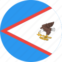 american, circle, country, flag, nation, samoa icon