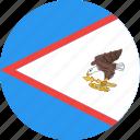american, circle, country, flag, nation, samoa