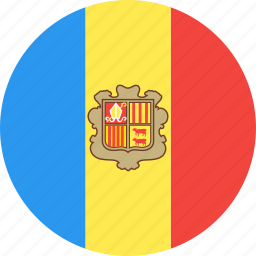 andorra, circle, country, flag, nation icon