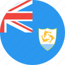 anguilla, circle, country, flag, nation icon