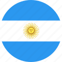 argentina, circle, country, flag, nation icon