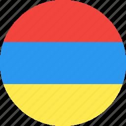armenia, circle, country, flag, nation icon