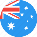 country, circle, australia, flag, nation