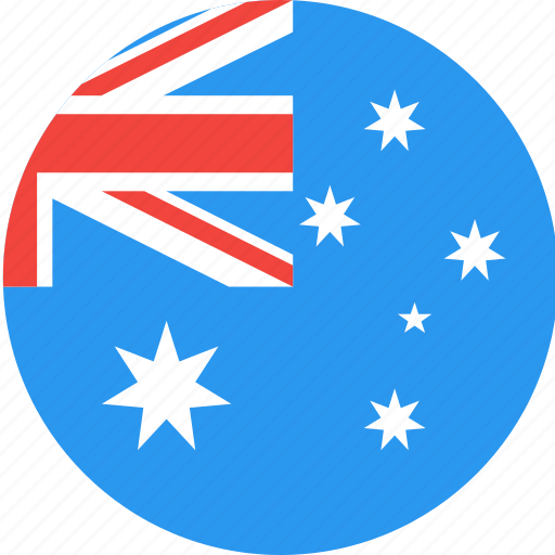 australia, circle, country, flag, nation icon