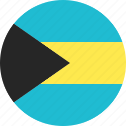 bahamas, circle, country, flag, nation icon