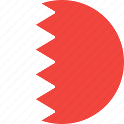 bahrain, circle, country, flag, nation icon