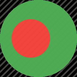 bangladesh, circle, country, flag, nation icon