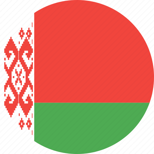 belarus, circle, country, flag, nation icon