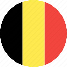 belgium, circle, country, flag, nation icon
