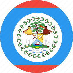 belize, circle, country, flag, nation icon
