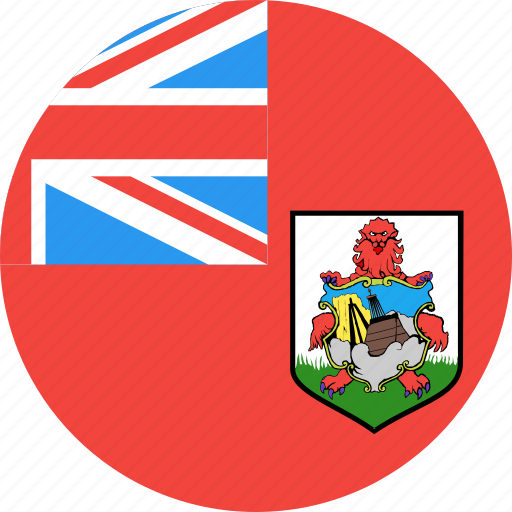 bermuda, circle, country, flag, nation icon