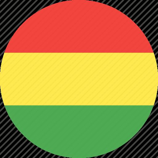 bolivia, circle, country, flag, nation icon