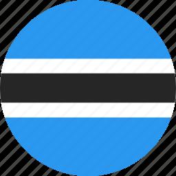 botswana, circle, country, flag, nation icon