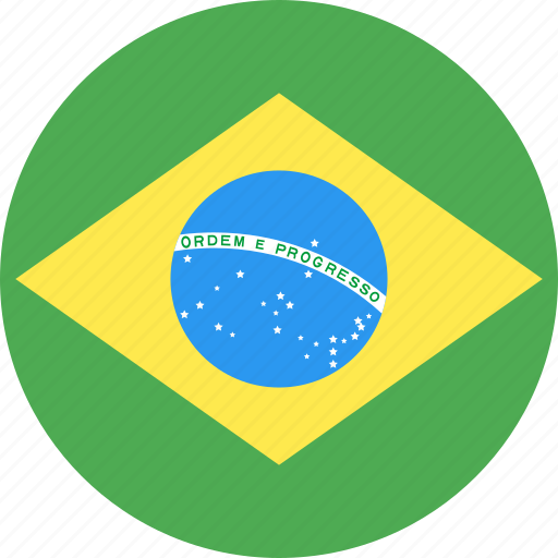 brazil, circle, country, flag, nation icon