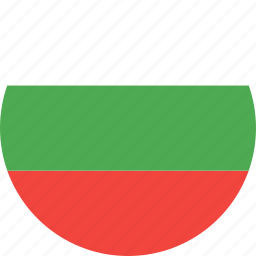 bulgaria, circle, country, flag, nation icon