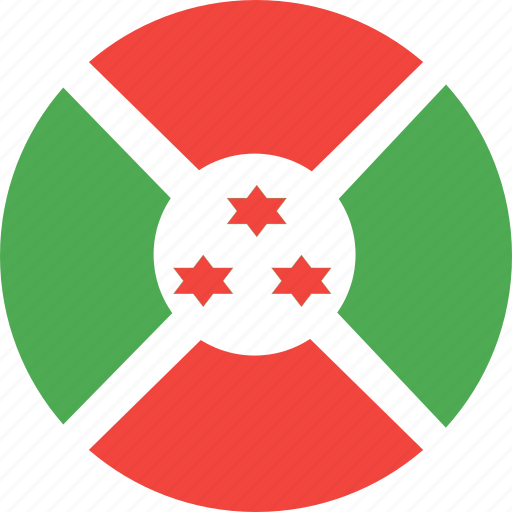 burundi, circle, country, flag, nation icon