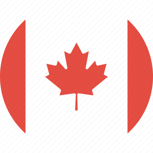 canada, circle, country, flag, nation icon