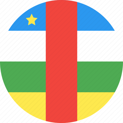 african, central, circle, country, flag, nation icon