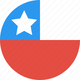 chile, circle, country, flag, nation icon