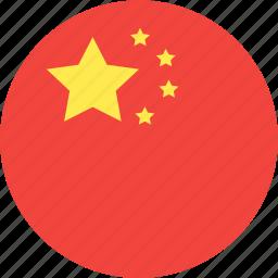 china, circle, country, flag, nation icon
