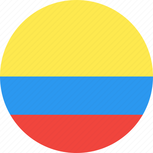 circle, colombia, country, flag, nation icon