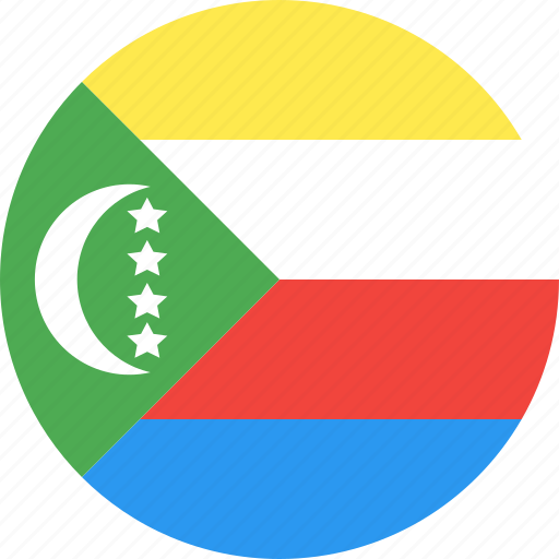 circle, comoros, country, flag, nation icon