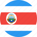 circle, costa, country, flag, nation, rica icon