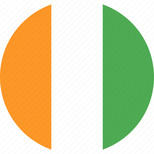circle, cote, country, divoire, flag, nation icon