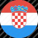 circle, country, croatia, flag, nation icon