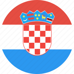 circle, country, croatia, flag, nation icon
