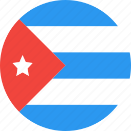 circle, country, cuba, flag, nation icon