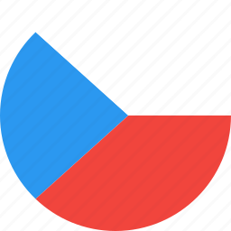 circle, country, czech, flag, nation, republic icon