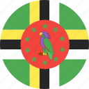 circle, country, dominica, flag, nation icon