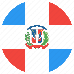 circle, country, dominican, flag, nation, republic icon