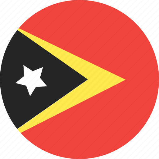 circle, country, east, flag, nation, timor icon