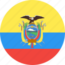 circle, country, ecuador, flag, nation icon