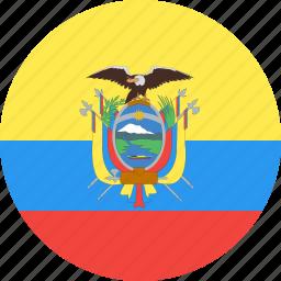 circle, country, ecuador, flag, nation icon
