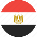 circle, country, egypt, flag, nation icon