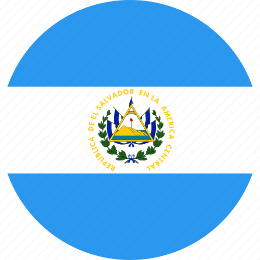 circle, country, el, flag, nation, salvador icon