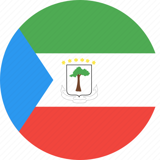 circle, country, equatorial, flag, guinea, nation icon