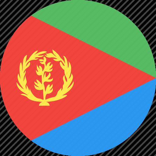 circle, country, eritrea, flag, nation icon