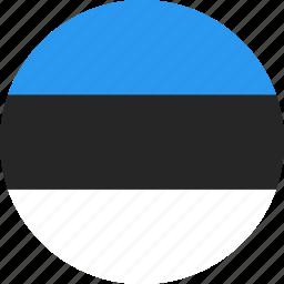 circle, country, estonia, flag, nation icon