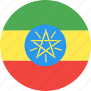 circle, country, ethiopia, flag, nation icon