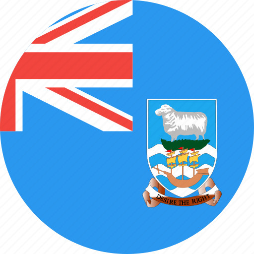 circle, country, falkland, flag, islands, nation icon