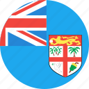 circle, country, fiji, flag, nation icon