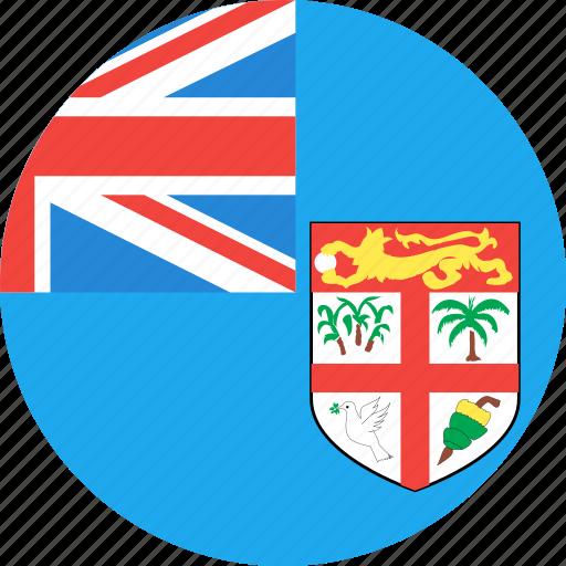 circle, country, fiji, flag, nation icon