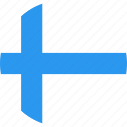 circle, country, finland, flag, nation icon