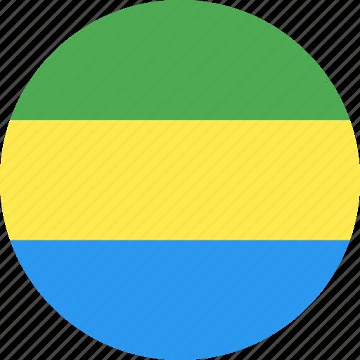 circle, country, flag, gabon, gabonese, nation, republic icon