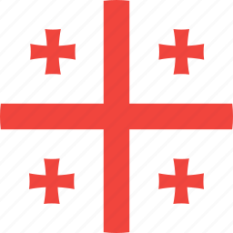 circle, country, flag, georgia, nation icon